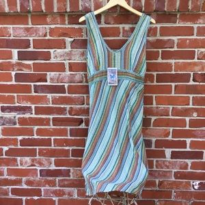 Blue Sky bohemian dress. Adjustable button straps